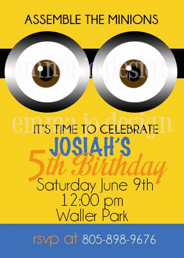 Minions Birthday Invitation Card New 14 Best Minion Inspired Cliparts Prinables and Party