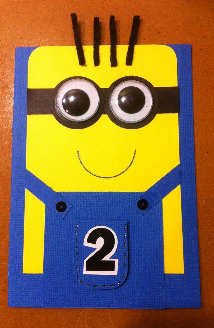 Minions Birthday Invitation Card New Best 20 Minion Card Ideas On Pinterest