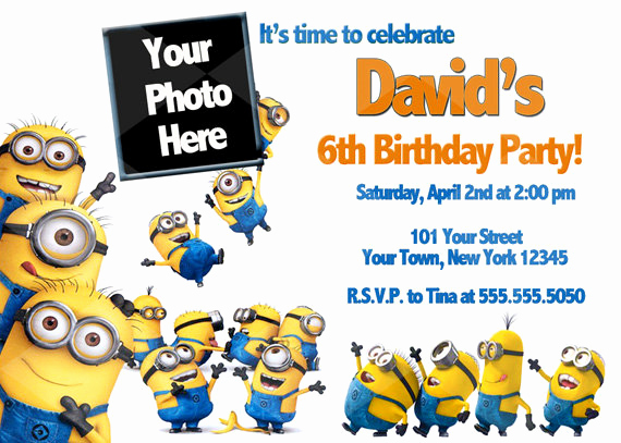 Minions Birthday Invitation Cards Awesome Free Printable Minion Birthday Party Invitations Ideas