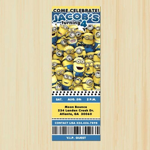 Minions Birthday Invitation Cards Beautiful 17 Best Images About Minnions On Pinterest