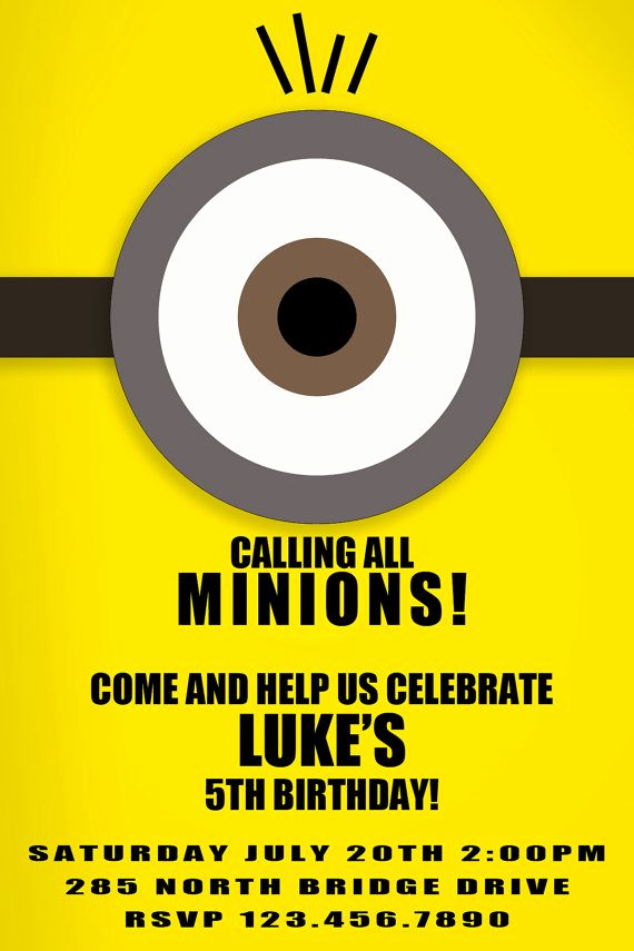 Minions Birthday Invitation Cards Beautiful 25 Best Ideas About Minion Invitation On Pinterest