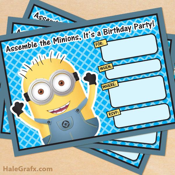 Minions Birthday Invitation Cards Fresh Free Printable Despicable Me Minion Birthday Invitation