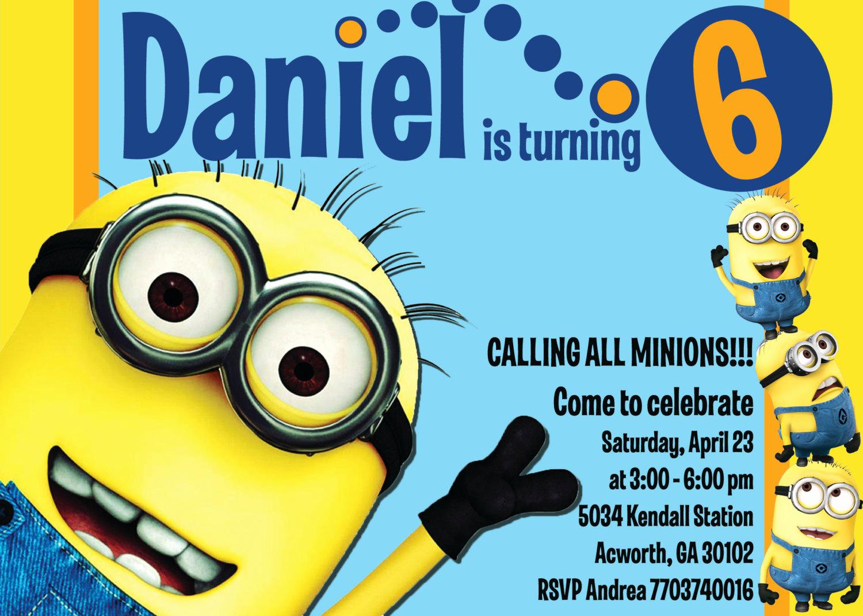 Minions Birthday Invitation Cards Luxury Minion Invitations Templates