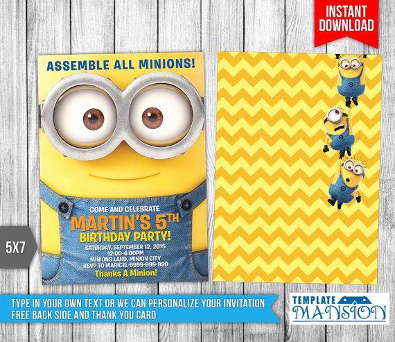 Minions Birthday Invitation Cards New 25 Best Ideas About Minion Invitation On Pinterest
