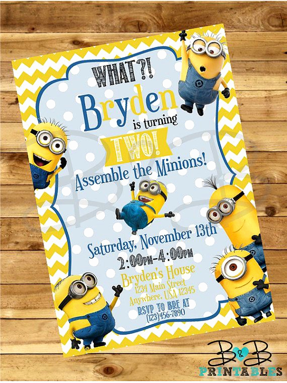 Minions Birthday Invitation Maker Beautiful Hey I Found This Really Awesome Etsy Listing at S