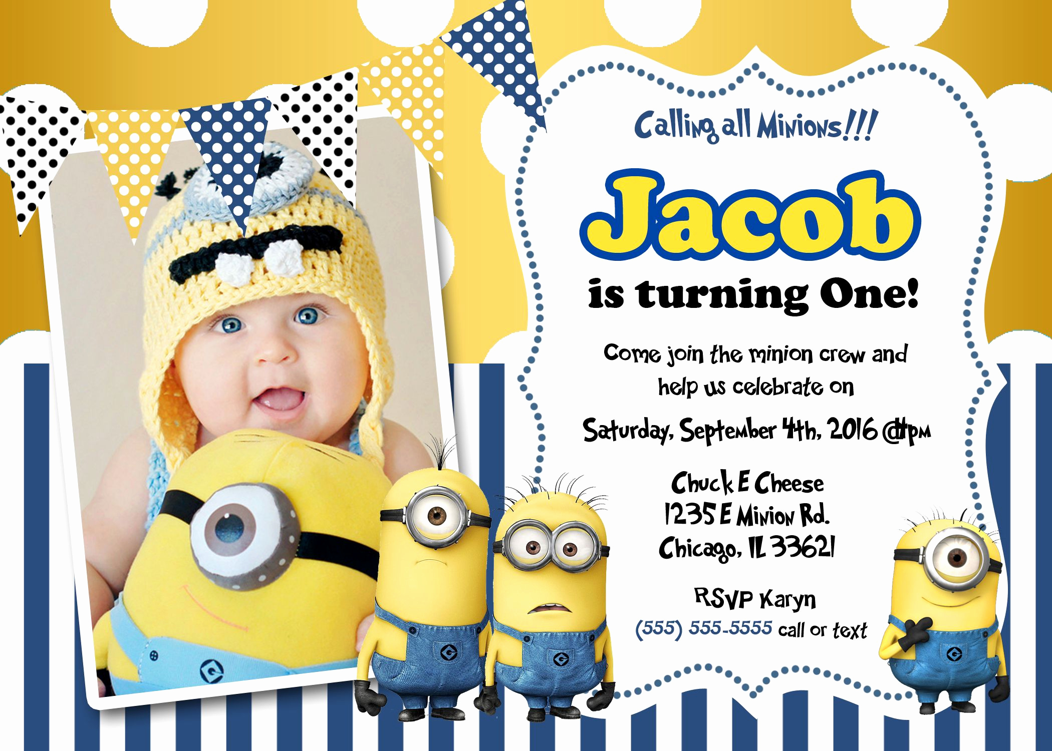 Minions Birthday Invitation Maker Luxury Minions Birthday Invitations