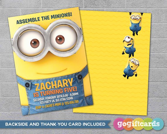 Minions Birthday Invitation Maker New 25 Best Ideas About Minion Birthday Invitations On