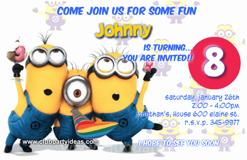 Minions Birthday Invitation Maker New Custom Minion Birthday Invitations Free Printable 【2018】