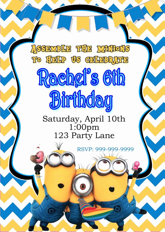 Minions Birthday Invitation Maker Unique 1000 Ideas About Minion Birthday Invitations On Pinterest