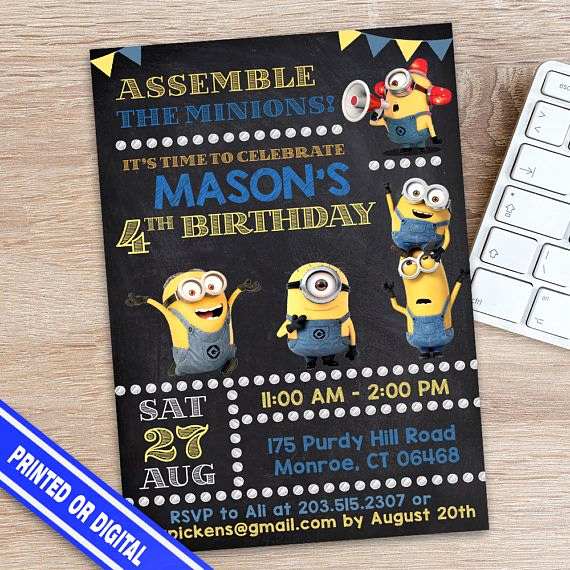 Minions Birthday Invitation Maker Unique 25 Best Ideas About Minion Birthday Invitations On Pinterest