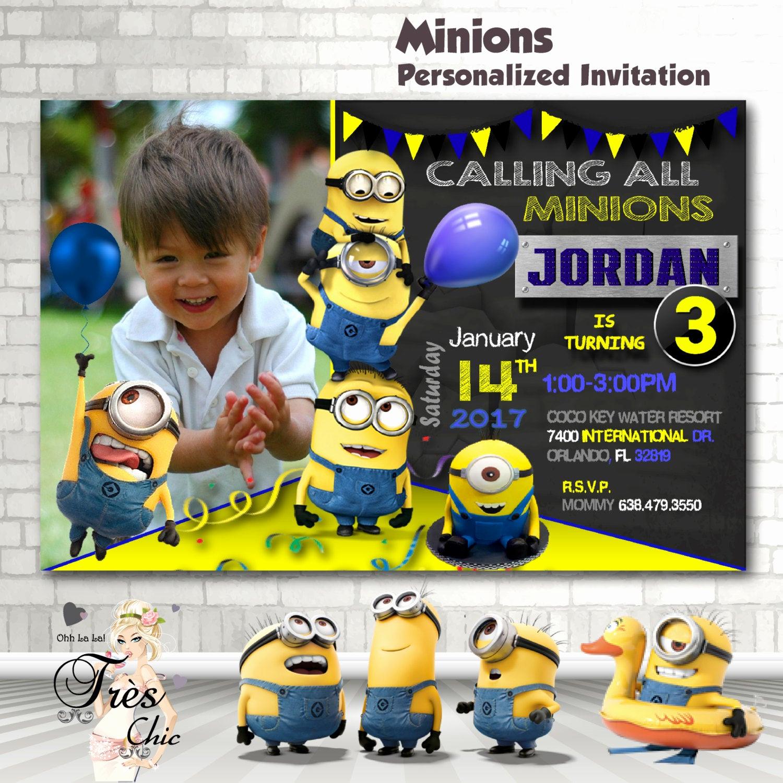 Minions Birthday Invitation Online Elegant Minion Invitationminion Birthday Invitationminion Birthday