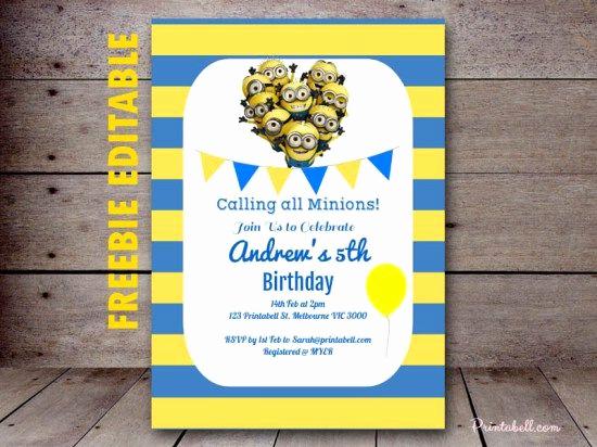 Minions Birthday Invitation Online Inspirational 17 Best Ideas About Minion Birthday Invitations On