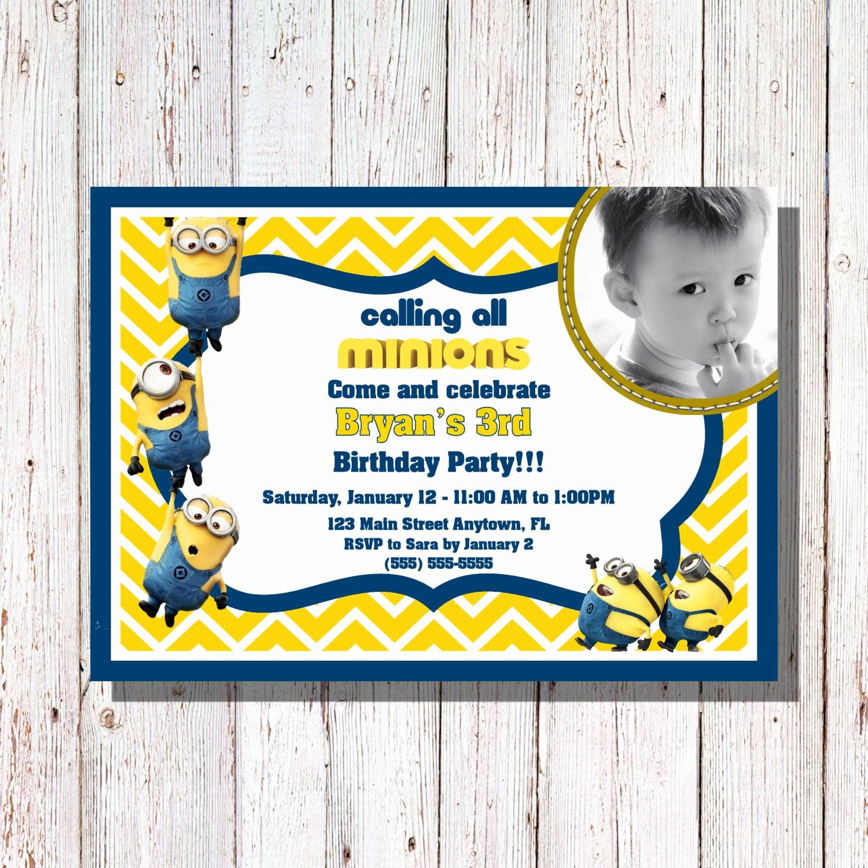 Minions Birthday Invitation Online Lovely Minions Birthday Invitation Minions Party by Sharpecorner