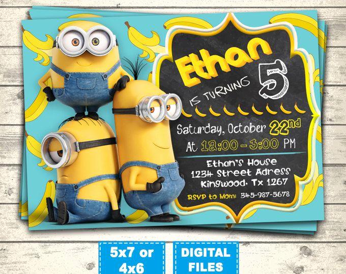 Minions Birthday Invitation Online Luxury Best 25 Minion Birthday Invitations Ideas On Pinterest