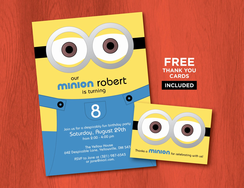 Minions Birthday Invitation Online New Printable Minion Birthday Invitations Personalized