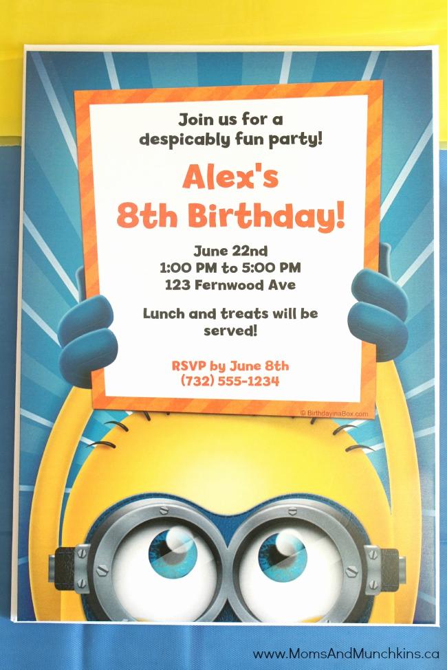 Minions Birthday Invitation Online Unique Minions Birthday Party Ideas Moms & Munchkins