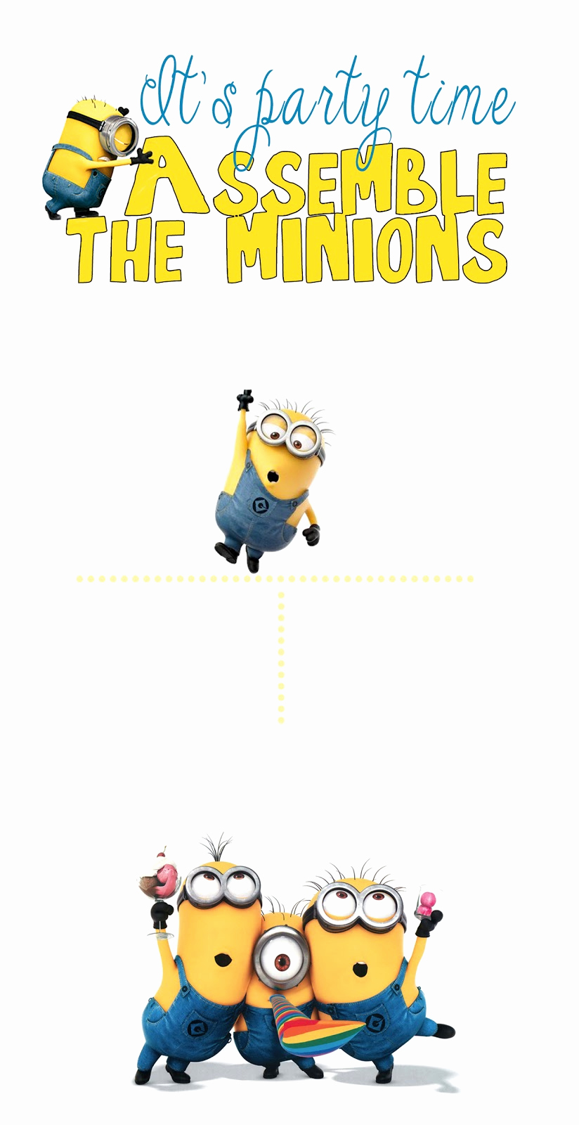 Minions Birthday Invitation Template Awesome 30 Minion Ideas assemble the Minions Pelitabangsa Ca