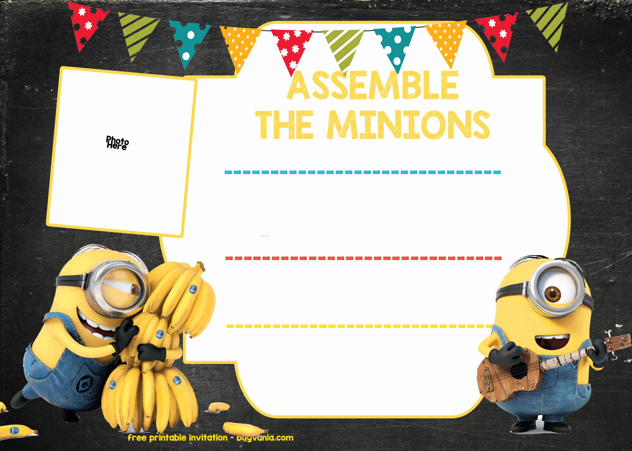 Minions Birthday Invitation Template Awesome Free Printable Minion Birthday Party Invitations Ideas