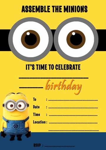Minions Birthday Invitation Template Beautiful Tarjetas De Cumpleaños De Minions Con Imágenes Para Imprimir