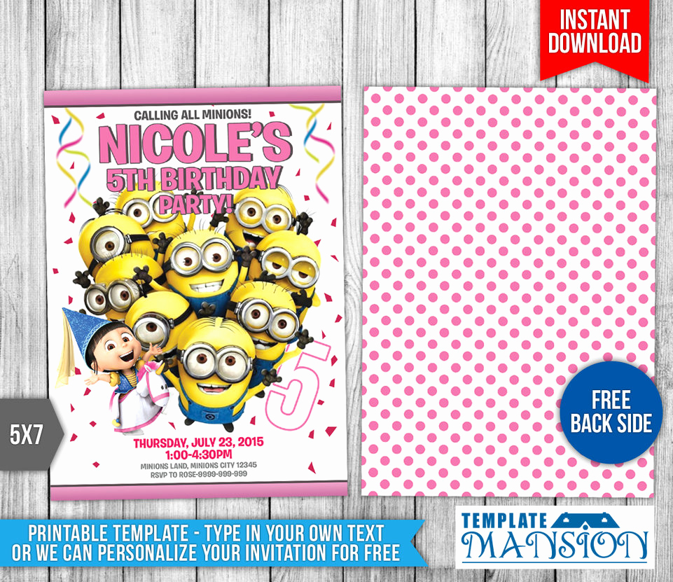 Minions Birthday Invitation Templates Elegant Minions Birthday Invitation Templates by Templatemansion
