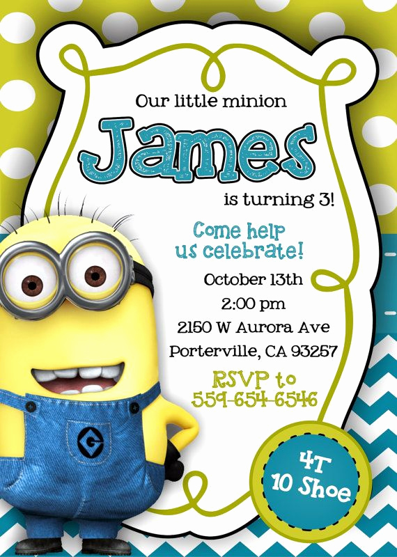 Minions Birthday Invitation Templates Fresh Best 25 Minion Invitation Ideas On Pinterest