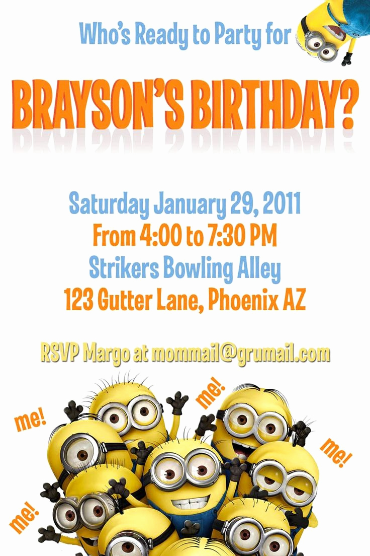 Minions Birthday Invitation Templates Fresh Minion Invitations Templates