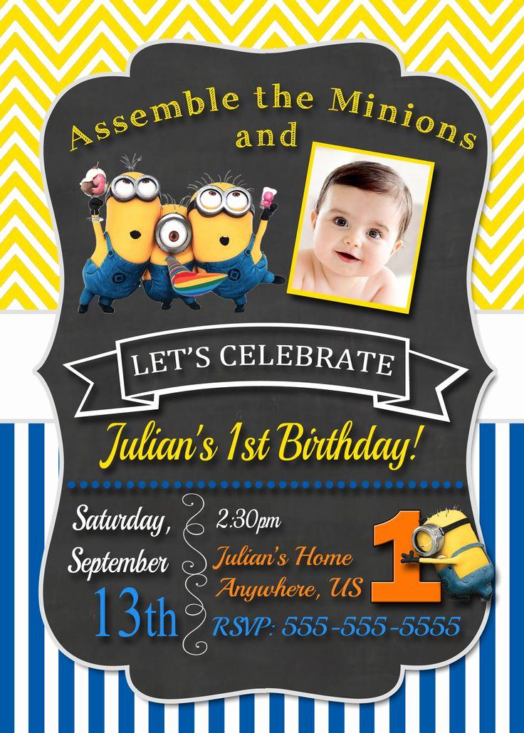Minions Birthday Party Invitation Elegant 25 Best Ideas About Minion Birthday Invitations On Pinterest