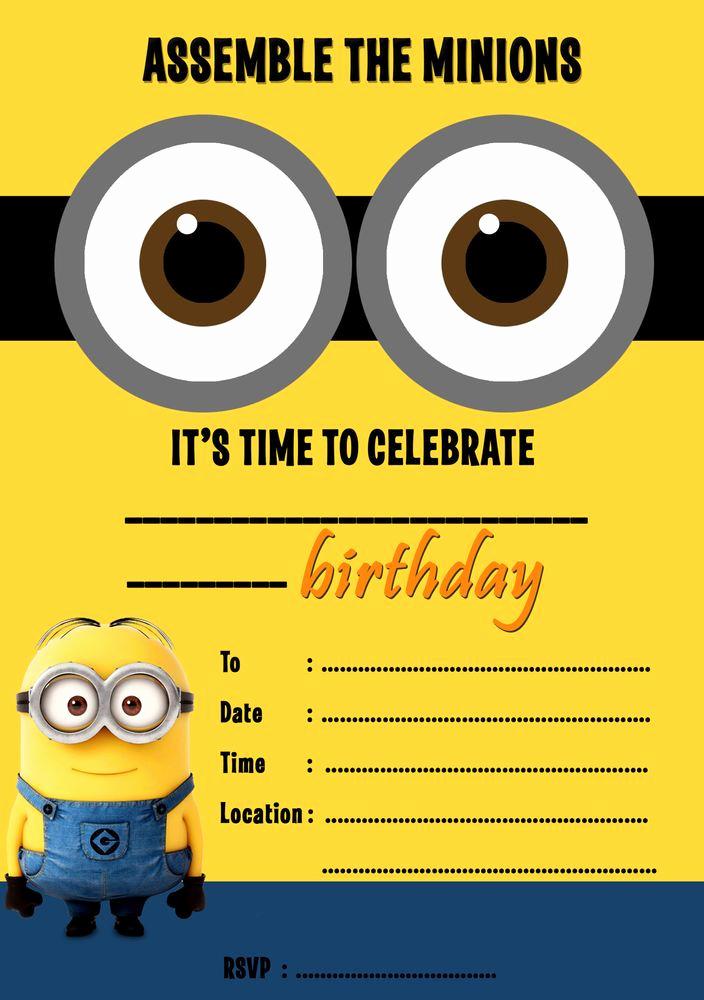 Minions Birthday Party Invitation Fresh 25 Best Ideas About Minion Birthday Invitations On
