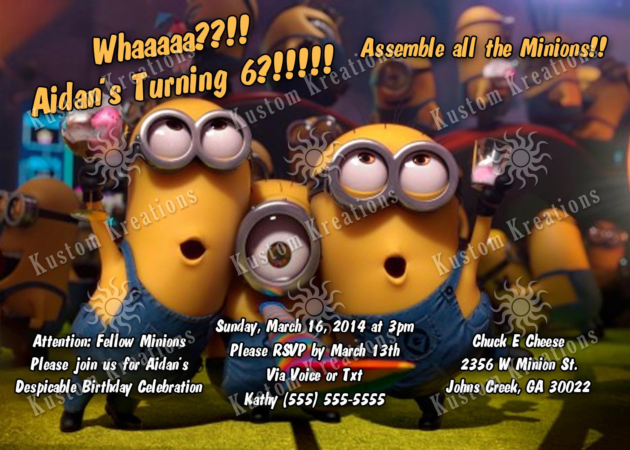 Minions Birthday Party Invitation Luxury Minions Birthday Invitations