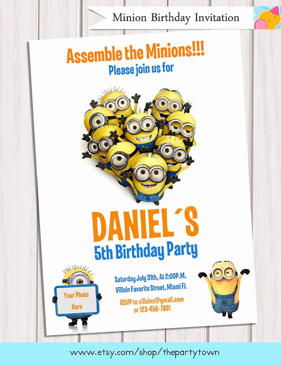 Minions Birthday Party Invitation Unique 16 Best Images About Minion Party Invites Olivia On