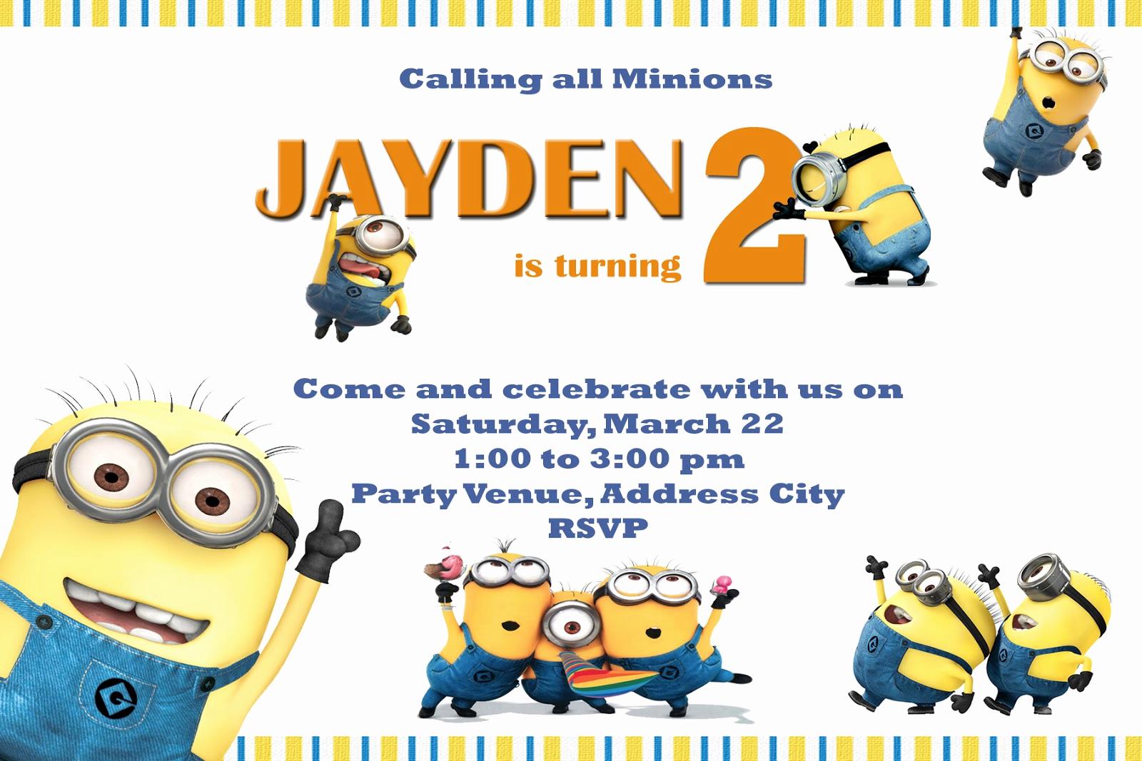 Minions Birthday Party Invitation Unique Moms Kid Party Link Minions Party Invites