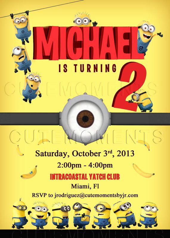 Minions Birthday Party Invitation Unique the Minions Invite Minions Birthday Party Despicable