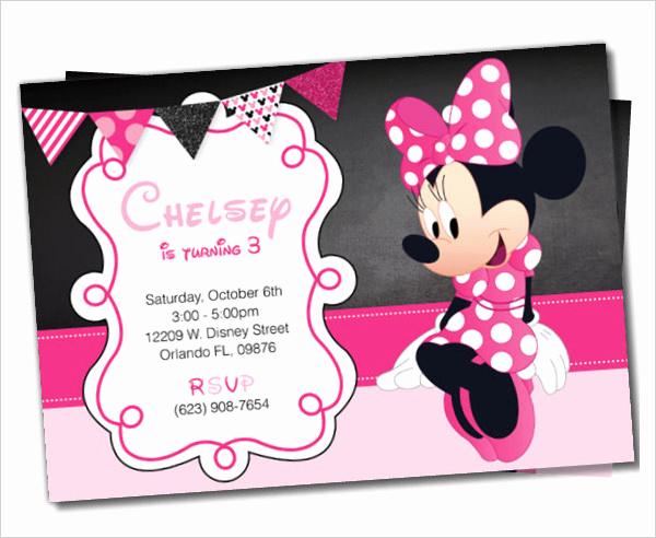Minnie Mouse Birthday Invitation Template Awesome 23 Awesome Minnie Mouse Invitation Templates Psd Ai