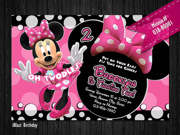 Minnie Mouse Birthday Invitation Template Awesome 26 Minnie Mouse Invitation Templates Psd Ai Word