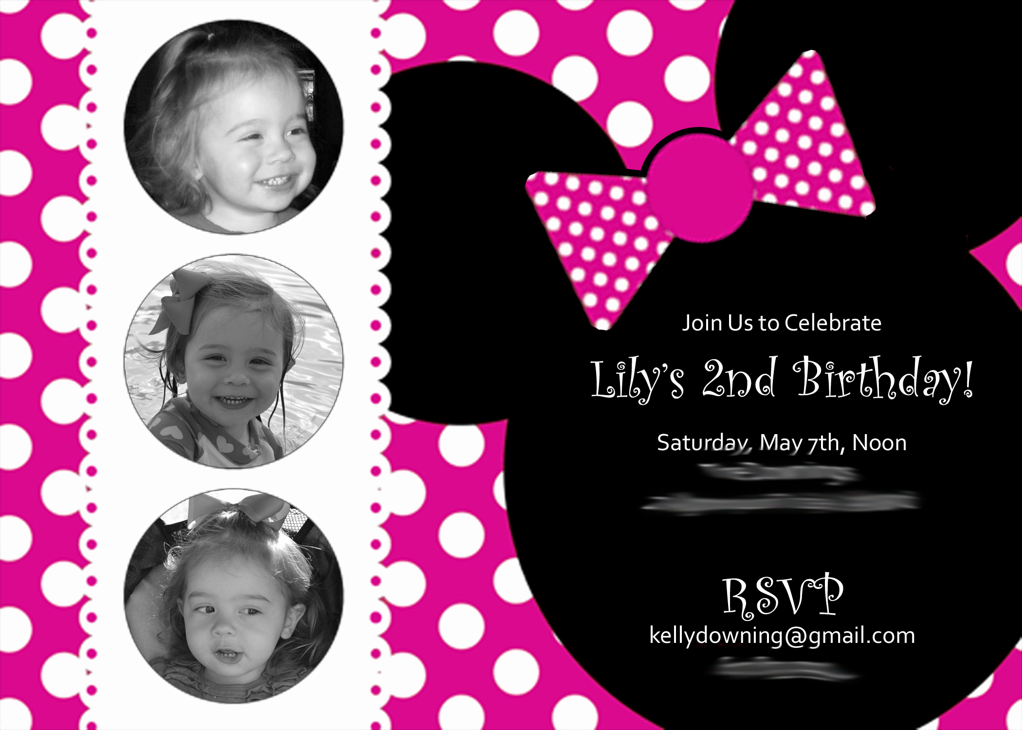 Minnie Mouse Birthday Invitation Template Awesome A Two Year's Olds Mini Minnie Birthday Party