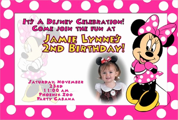 Minnie Mouse Birthday Invitation Template Elegant 20 Minnie Mouse Birthday Invitation Templates Psd Ai