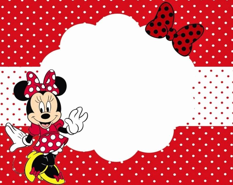 Minnie Mouse Birthday Invitation Template Elegant Minnie Mouse Free Printable Invitation Templates