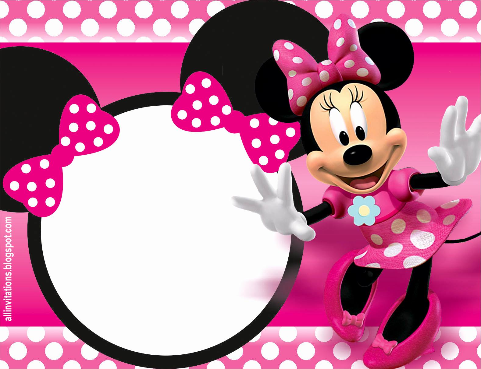 Minnie Mouse Birthday Invitation Template Fresh 32 Superb Minnie Mouse Birthday Invitations