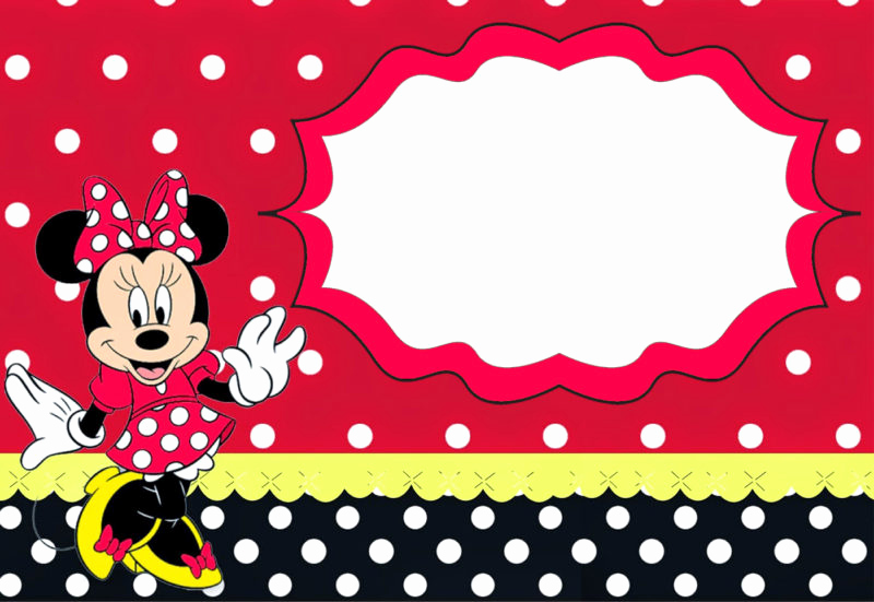 Minnie Mouse Birthday Invitation Template Lovely the Largest Collection Of Free Minnie Mouse Invitation