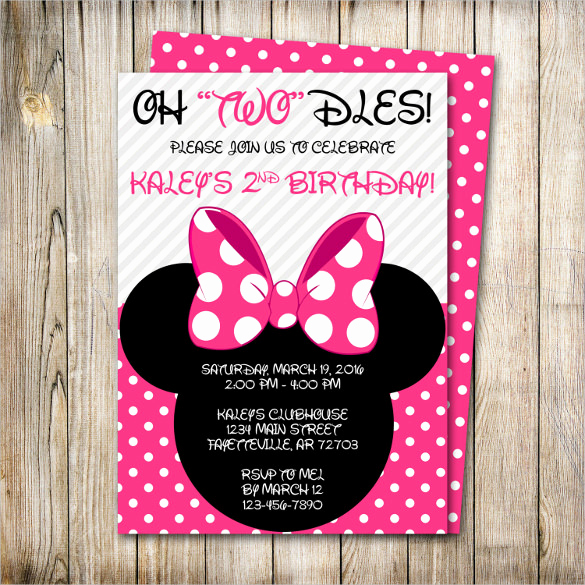 Minnie Mouse Birthday Invitation Template Unique 33 Minnie Mouse Birthday Invitation Templates – Psd Word