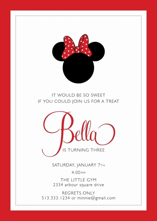 Minnie Mouse Birthday Invitation Wording Awesome 1000 Ideas About Minnie Mouse Birthday Invitations On