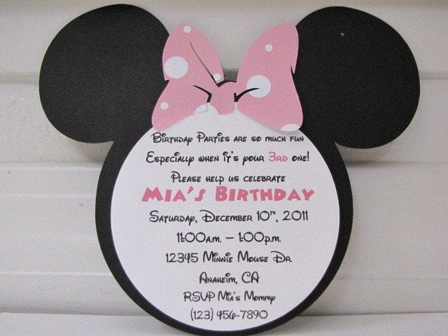 Minnie Mouse Birthday Invitation Wording Awesome 301 Moved Permanently