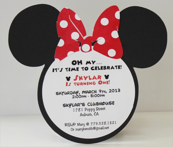 Minnie Mouse Birthday Invitation Wording Awesome 33 Minnie Mouse Birthday Invitation Templates – Psd Word
