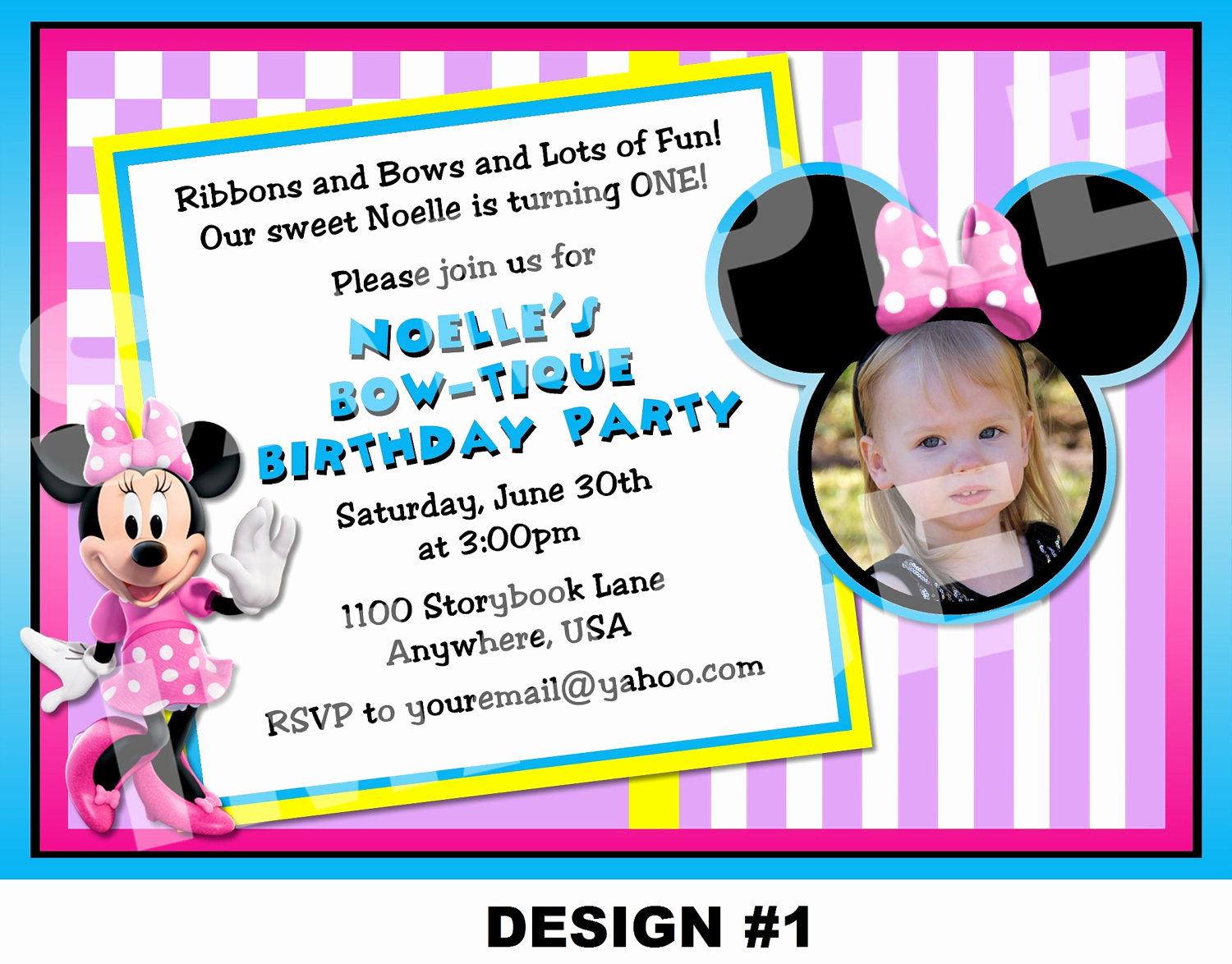 Minnie Mouse Birthday Invitation Wording Beautiful Minnie Mouse Birthday Invitation Minnie by Storybooklanecrafts