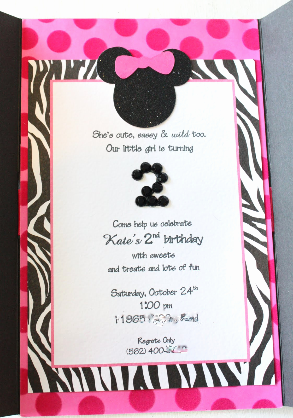 Minnie Mouse Birthday Invitation Wording Best Of Kate S Minnie Mouse Invitation