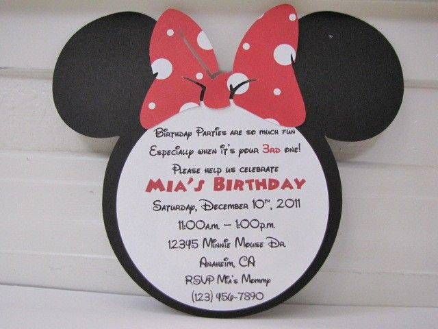 Minnie Mouse Birthday Invitation Wording Luxury 61 Best Images About Silhouette Minnie & Mickey Mouse On