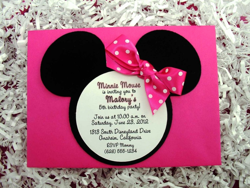Minnie Mouse Birthday Invitation Wording Luxury Minnie Mouse Birthday Invitations Wording