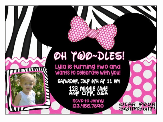 Minnie Mouse Birthday Invitation Wording Unique Minnie Mouse Birthday Invitation by Egoodname On Etsy
