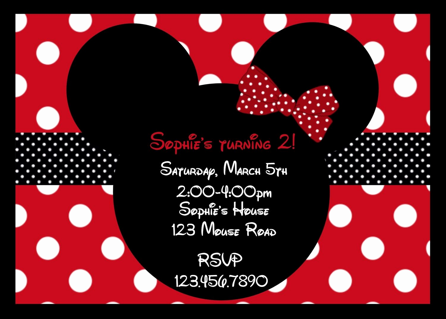 Minnie Mouse Blank Invitation Awesome Minnie Mouse Party Red On Pinterest