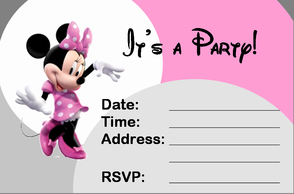 Minnie Mouse Blank Invitation Beautiful 35 Best Minnie Mouse Birthday Party Ideas